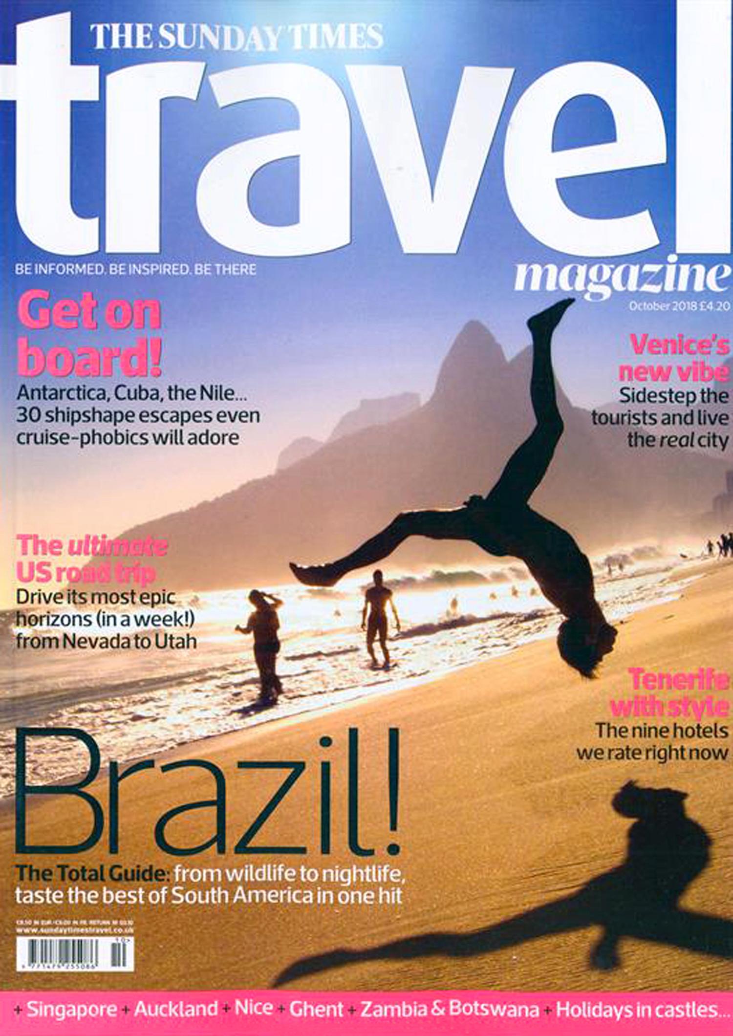 Destaque na Revista The Sunday Times Travel Magazine